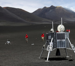 Lunar Robots Test Their Mettle on Italy's Mount Etna