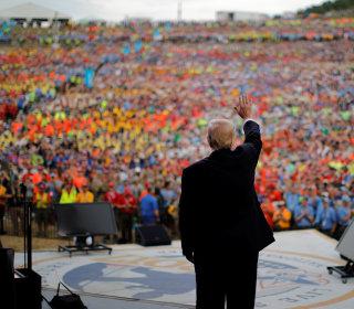 Trump Talks 'Fake News,' 'Killing Obamacare,' 'Merry Christmas' at Scout Jamboree