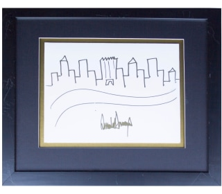 Trump Drawing of Skyline Goes Up for Auction, Experts Offer Mixed Reviews