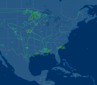 Boeing Aircraft Creates Outline of Plane During 18-Hour Test Flight