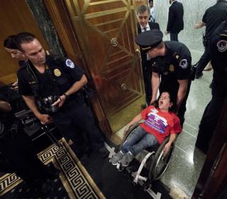 Capitol Hill Protests Interrupt GOP Health Care Bill Hearing