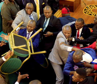 Fistfights Erupt in Uganda's Parliament Amid Move to Extend President's Rule