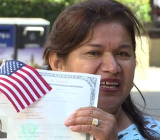 Mom Who Can't Read, Write Earns U.S. Citizenship