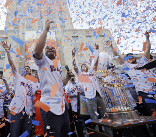 Thousands Celebrate Astros at Victory Parade