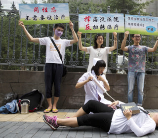 Rights group urges China to ban abusive gay 'conversion therapy'