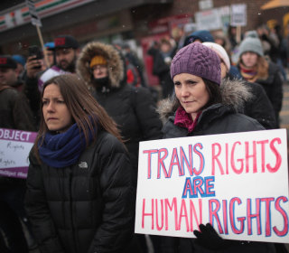 'Very large partisan gaps' in views on transgender issues, study finds