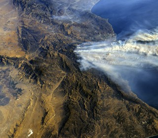 California wildfires' vast scale seen in astronaut's photos