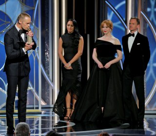 The deafening silence on harassment among men at the Golden Globes