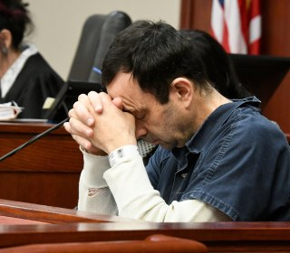 Coach slams gymnastics doctor Larry Nassar for hiding his face