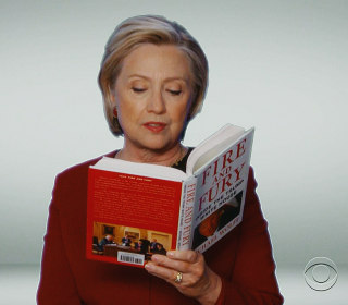 Hillary Clinton spoofs Donald Trump with 'Fire and Fury' reading at Grammys