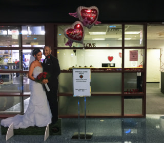 Traveling on Valentine's Day? How about free flowers — or a pop-up marriage booth?