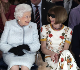 Queen Elizabeth II attends London Fashion Week in royal first