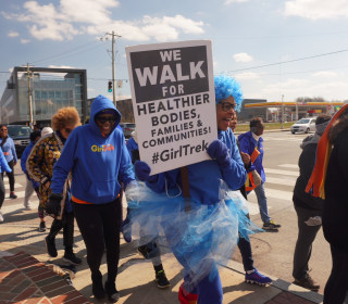 Harriet Tubman's legacy inspires black women to take 100 mile journey on foot