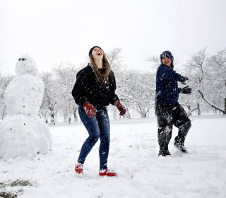 'Tis the season? Spring kicks off with snowy nor'easter
