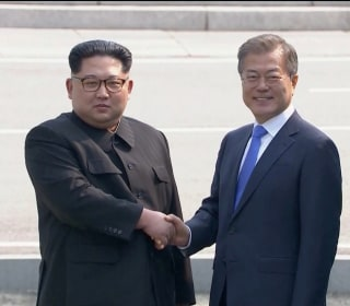 North Korea's Kim Jong Un crosses border for historic talks with South