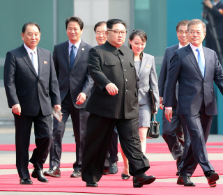 North Korea's Kim Jong Un crosses border for historic talks with South