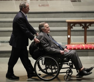 After hospitalization, George H.W. Bush arrives in Maine for summer