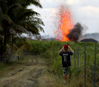 Hawaii's Kilauea lava destroys four homes, prompts airlifts