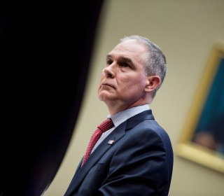 Pruitt bars media from EPA summit on contaminants, guards push reporter out of building