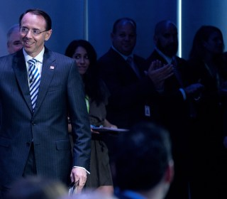 Rod Rosenstein, targeted by Trump, jokes he knows all about 'piling on'