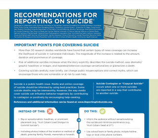 News coverage of high-profile suicides sparks debate about journalism ethics