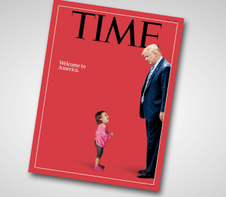 Time Magazine puts family separation at Trump's feet, literally