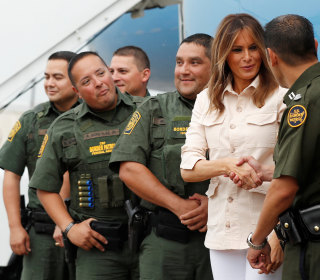 Melania Trump makes unannounced visit to Texas border amid crisis over separated families