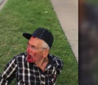 Man, 92, beaten with brick on street, told to 'go back'