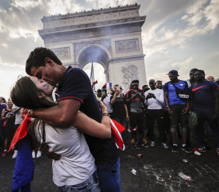 Vive la France! Fans go wild after World Cup win