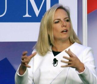 Kirstjen Nielsen won't say whether Russian meddling favored Trump