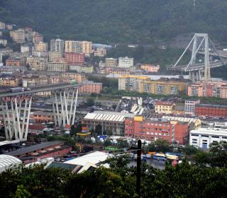 Highway bridge collapses in Genoa, Italy; 20 confirmed dead