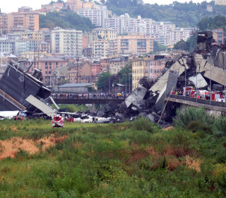 Highway bridge collapses in Genoa, Italy; 35 confirmed dead