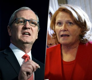 Thief! Heitkamp charges opponent with stealing credit for bill she championed