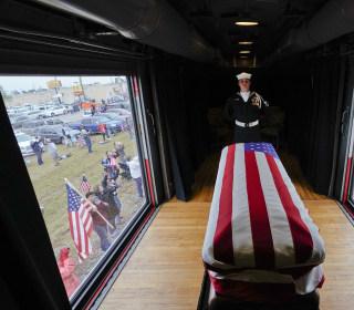 George H.W. Bush's final Texas train ride