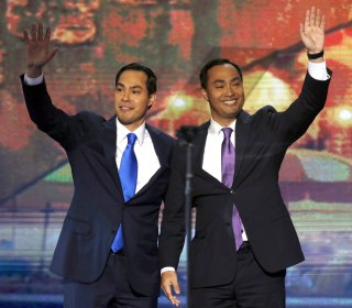 The twin Castro brothers teamed up for one of the most unusual presidential announcements ever
