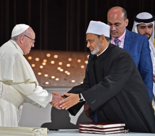 Pope Francis condemns 'misery' of war in historic first trip to Arab peninsula