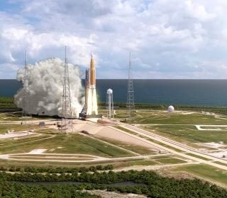 NASA says new rocket won't be ready for moon shot next year