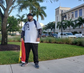 Meet the man walking across six states to D.C. to call attention to Venezuela's crisis