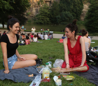 Parisians flock to parks as record-breaking heat scorches Europe