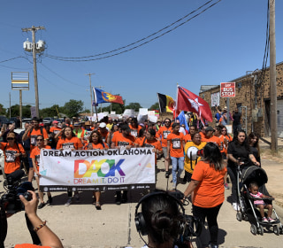 Japanese Americans among hundreds protesting plan to detain migrant children at Fort Sill