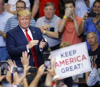 At post-debate rally, Trump seems to dial back attacks on 'the squad'