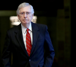 Mitch McConnell fractures shoulder in fall at Kentucky home, spokesman says