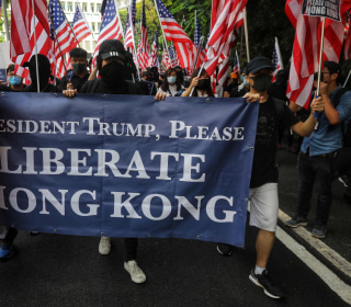 Hong Kong protesters sing Star Spangled Banner, appeal to Trump to 'liberate' city