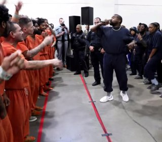 Kanye West gives emotional performance of 'Jesus is King' for inmates at a Houston jail