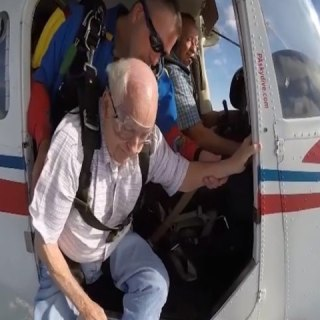 90-Year-Old Takes the Leap of a Lifetime