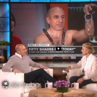 Matt Lauer Made 'New Friends' After Ellen DeGeneres' 'Fifty Shades' Gag