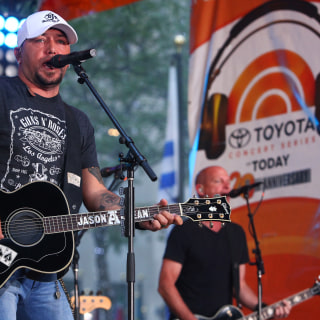 Watch as Jason Aldean brings his old boots to the TODAY plaza