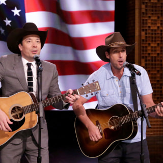 Watch Jimmy Fallon and Adam Sandler Serenade Troops for Fleet Week