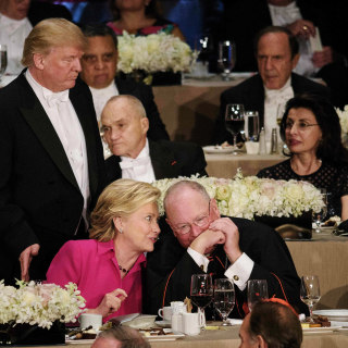 How An Awkward Charity Dinner Summed Up the 2016 Campaign