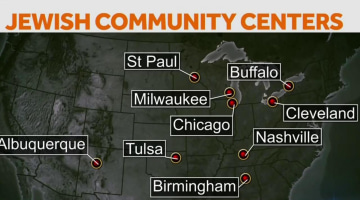New Wave Of Bomb Threats Target US Jewish Centers NBC News - Threats to us on a map